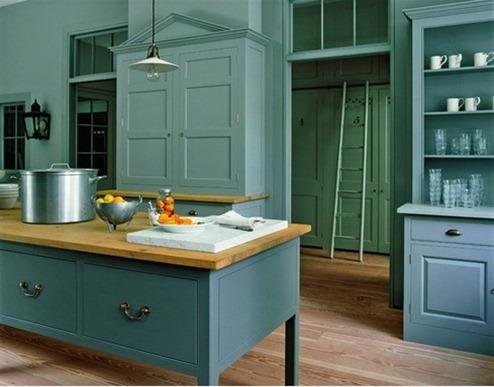 Lovely Bule Modern Class Kitchen