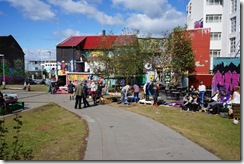 Streets of Reykjavik on National Day