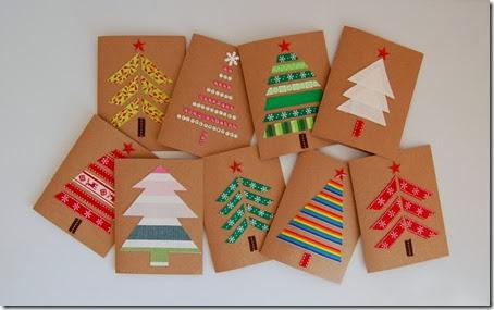 Manualidades tarjetas de navidad simples y bonitas - Manualidades postales navidad ...