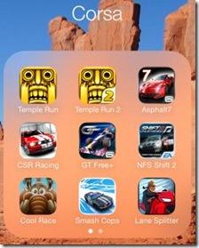iOS 7 cartelle effetto vetro trasparenza