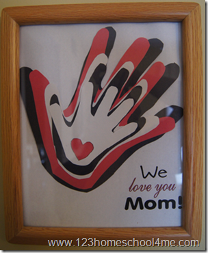 Simple, Mother's Day Hand Art Craft Kids can Make from 123 Homeschool 4 Me