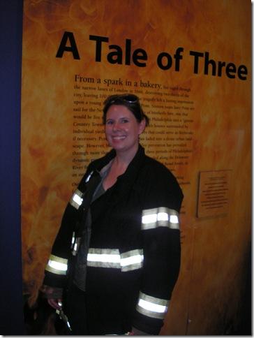 Cyndi at the Philadelphia Fire Museum