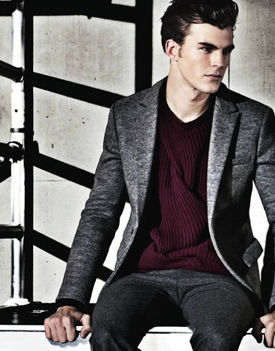 Patrick Kafka by David McKnight for Emporio Armani F/W 2011 lookbook