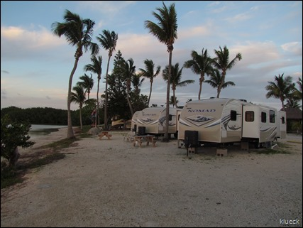 Sunset at Sunshine Key Rv Resort rental trailers