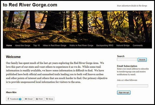 00a3 - Red River Gorge Geological Area - Best Web Site for Trail Ino