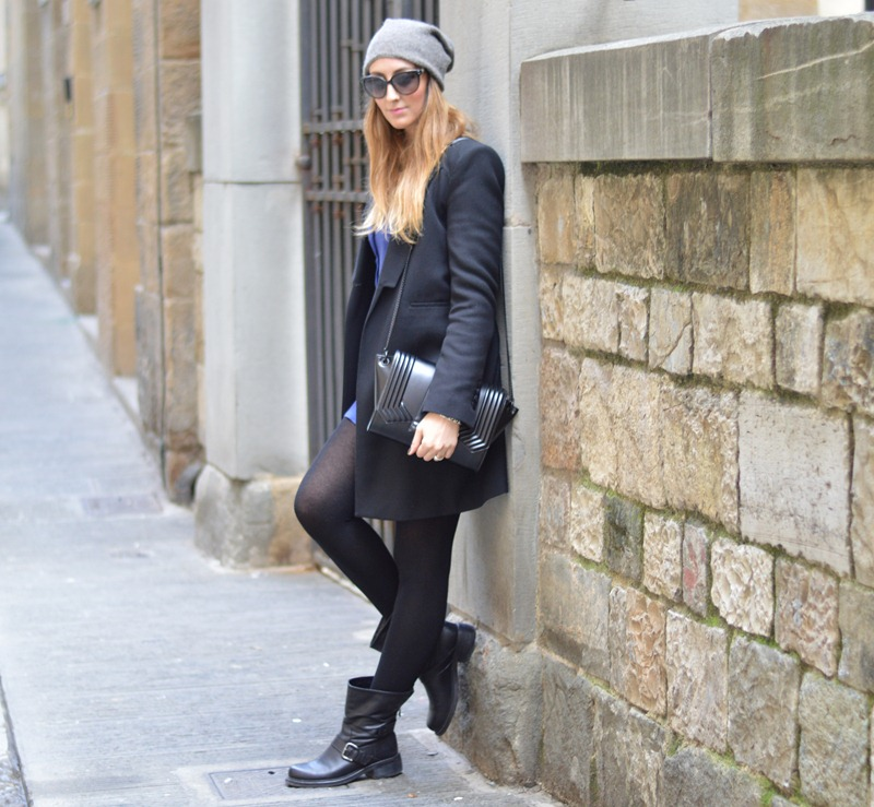 Zara coat, Zara, Zara bag, Strategia biker boots, biker boots, Tezenis, Vestiti Tezenis, Tezenis dress, fashion blogger, fashion blogger italiane, migliori fashion blogger italiani, cruciani, braccialetti Cruciani, Cruciani bracelets, H&M necklace, H&M accessori, collana H&M, Firenze, fashion blogger firenze, outfit a firenze, Florence