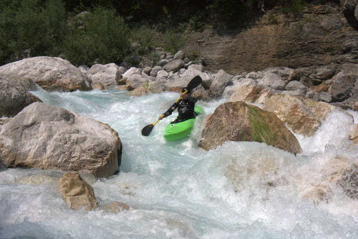 Jethro on the final rapid of Syphon Canyon