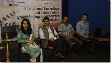 Deepti D'Cunha, Raman Chawla , Raja Khedekar, Vice-President Kala Academy, Yogesh Karikurve