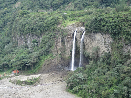 Manto de La Novia waterfall which recently split into two - the new fall is on the left.