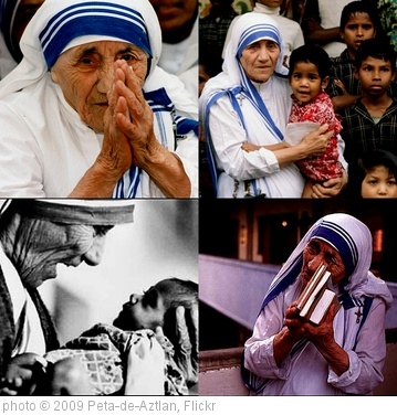 'Mother-Teresa-collage' photo (c) 2009, Peta-de-Aztlan - license: http://creativecommons.org/licenses/by/2.0/