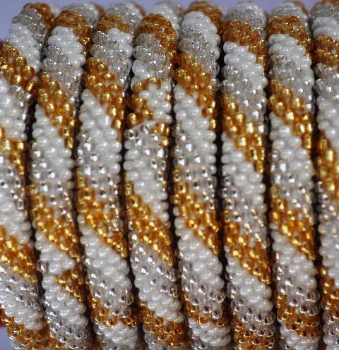 Rollover White Series Bead Braceletss