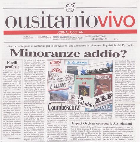 OusitanioVivo portada de febrièr 2011