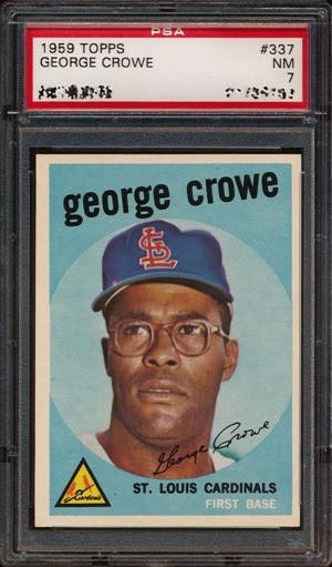 1959 Topps 337 George Crowe