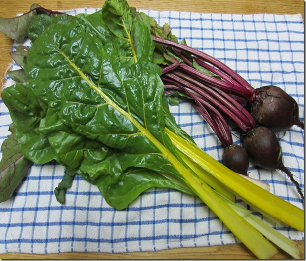 Chard and beets