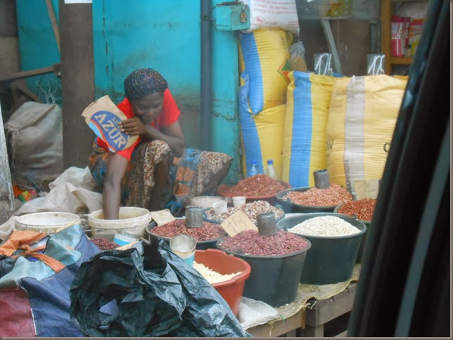 Lady Selling Beans