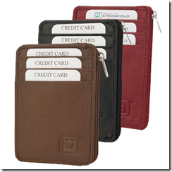 Secure Wallet Mini RFID Blocking Leather Wallet