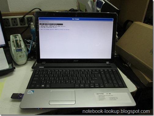 ตั้งค่าการ Boot ของ Acer Aspire E1