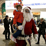 santa claus at the duomo in Milan, Milano, Italy