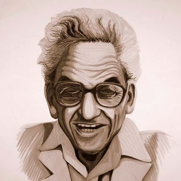 Paul Erdos caricature