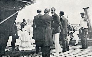 Un muy joven ALFONSO XIII, visitante asiduo de los veranos vascos. De la REVISTA GENERAL DE MARINA. AÑO 1.906