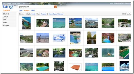 Imagens no Bing