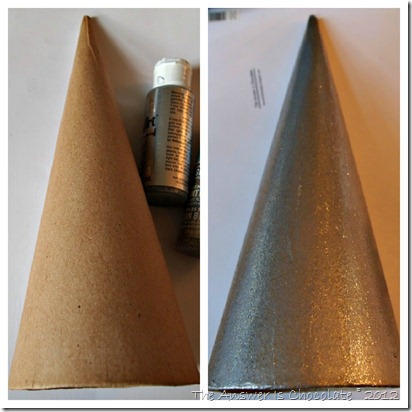Before and After Metallic Cone