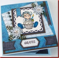 Blått spill-kort (4)