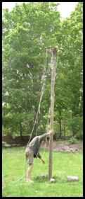 erect pole