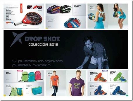 Catálogo DROP SHOT 2015: palas, textil, calzado y accesorios. Calidad para todos los públicos. DESCARGAR