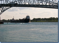 3653 Ontario Sarnia - Blue Water Bridge over St Clair River - John D. Leitch lake freighter
