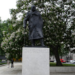 churchill in downtown london in London, London City of, United Kingdom