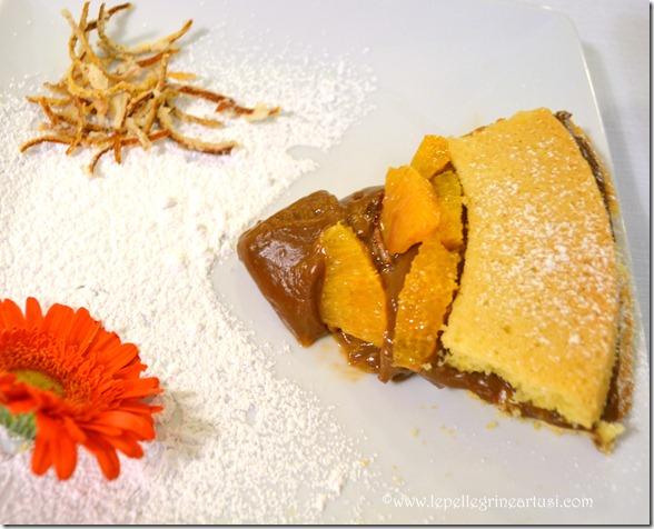 frolla con crema al cioccolato e arancio