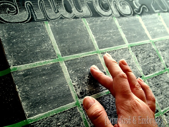 Chalkboard Calendar (Sawdust and Embryos)