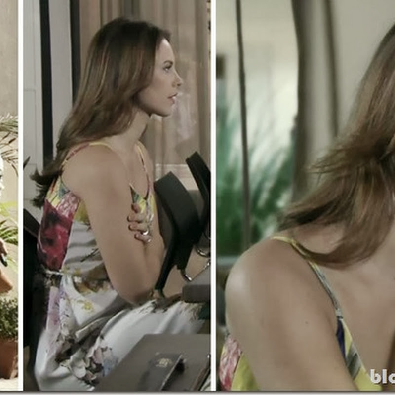 Vestido florido da Paloma na novela Amor à Vida no dia 24 de setembro