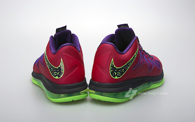 nike lebron 10 low gr purple neon green 3 03 Nike Air Max LeBron X Low Raspberry Official Release Date