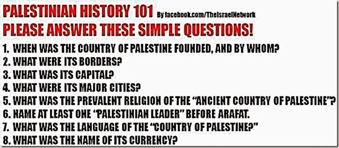 Palestinians Never Existed