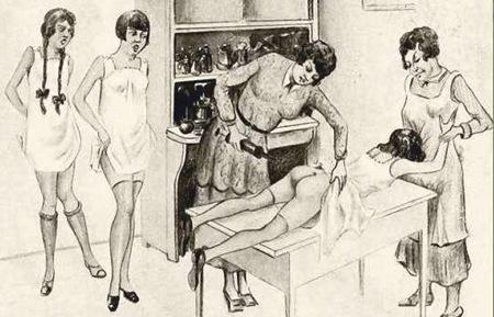 Clistere nel pensionato femminile (aquerello di Helga Bode)