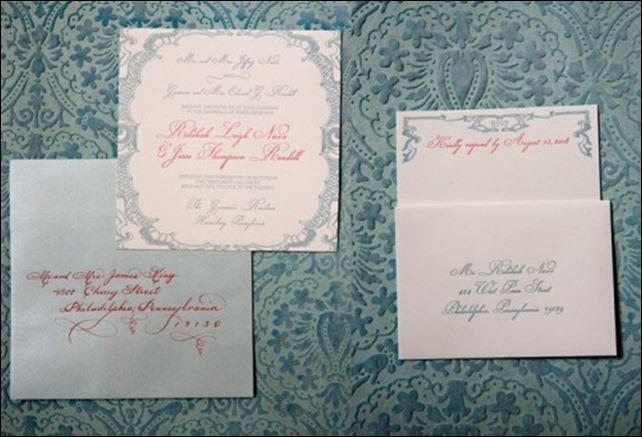 convite rosa azul