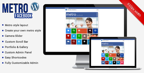 Metro Facebook Timeline para WordPress