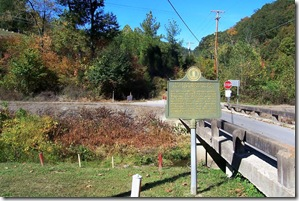 Killing Of Asa Harmon McCoy marker near Blackberry School