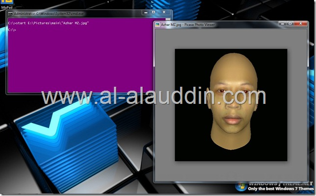 open file spaced name with cmd by Al-alauddin.com