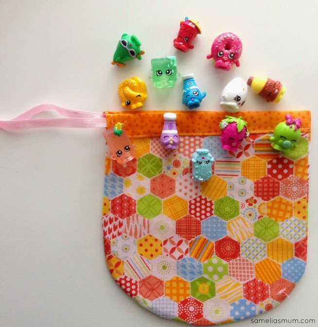 Shopkins Drawstring Pouch