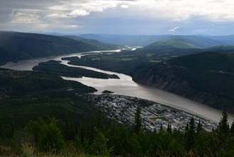 Dawson City from the Dome