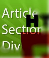La diferencia de usar div, article y section con HTML5