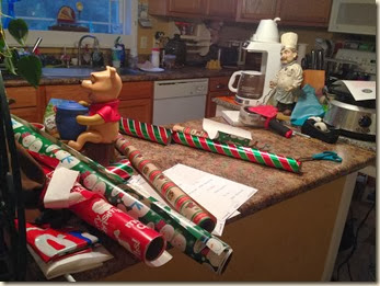 kitchen wrapping station