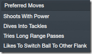 Preferred moves of Sulley Muntari