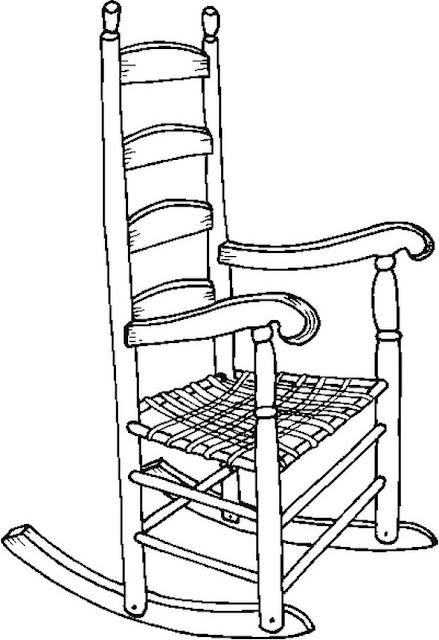 Dibujos de mecedoras para colorear - Sedia a dondolo disegno ...