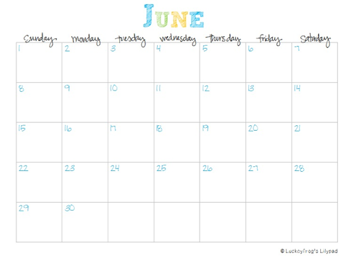 ... downloaded my free printable calendar for June 2013- July 2014 yet