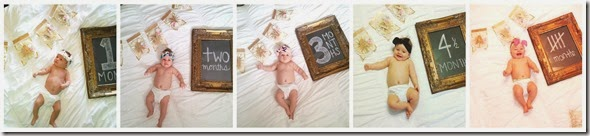 5 month collage