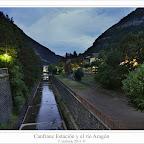 Canfranc Estación y el río Aragón